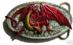 Traag Dragon Belt Buckle + display stand. Code EE5